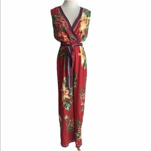 Flying Tomato XS Floral Jumpsuit Sleeveless New